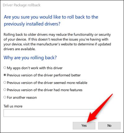 Windows demande si vous êtes sûr de vouloir