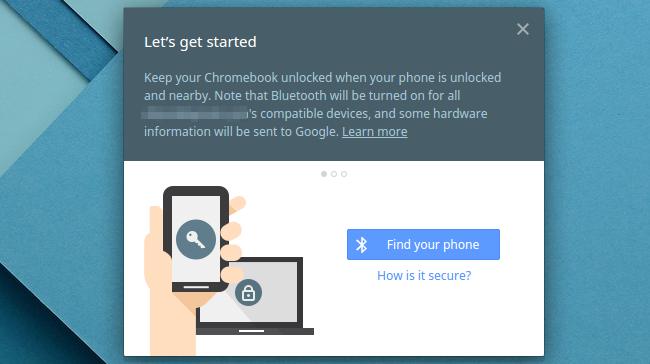 commençons avec Smart Lock sur un Chromebook