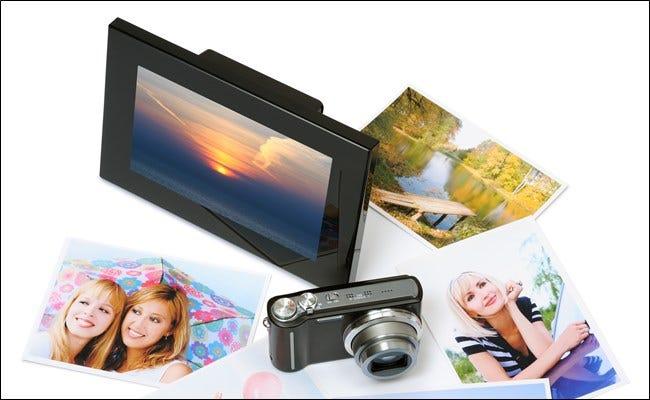 Cadre photo numérique avec photos et appareil photo