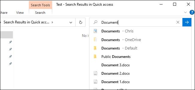 Nouvelle recherche de fichiers en ligne de l'Explorateur de fichiers affichant les fichiers OneDrive.
