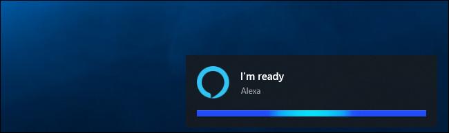 """Alexa disant """"Je suis prêt"""" sur Windows 10"""