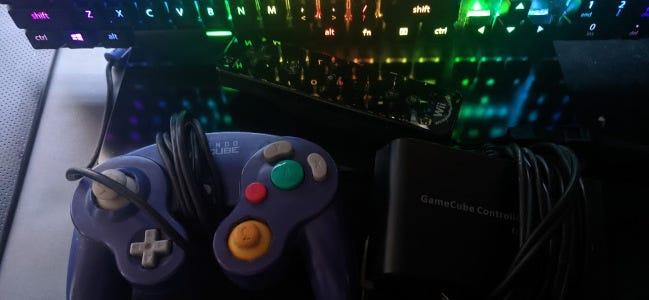 Contrôleur Gamecube connecté à un PC via USB
