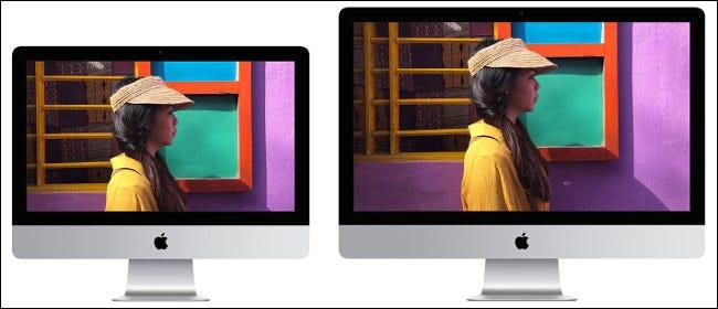 Un écran Apple iMac de 21 et 27 pouces 2019.