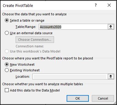 Créer un tableau croisé dynamique dans Excel
