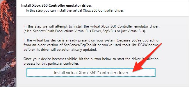 Installer le pilote du contrôleur virtuel 360
