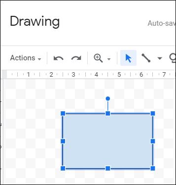Cliquez et faites glisser pour créer une forme.