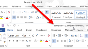 Comment convertir un document Word 2013 en une ancienne version de Word