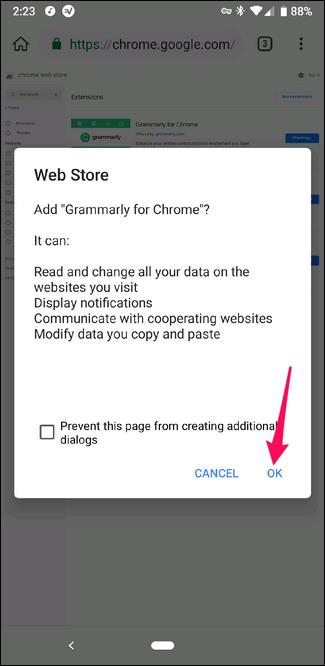 Installer une extension Chrome dans le navigateur Kiwi