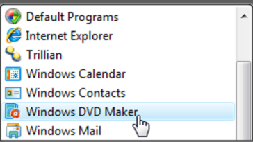 Utilisation de Windows DVD Maker