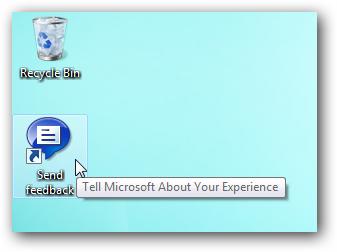 Icône d'envoi de commentaires Windows 7