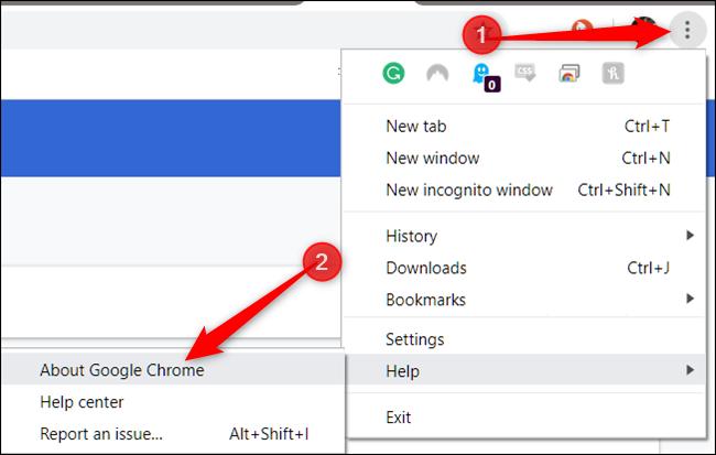 Cliquez sur Plus, pointez sur Aide, puis cliquez sur À propos de Google Chrome