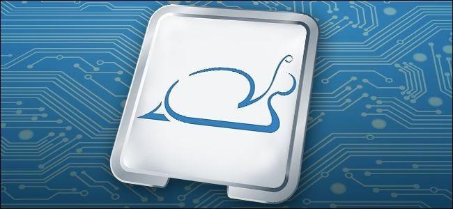 CPU avec un logo d'escargot
