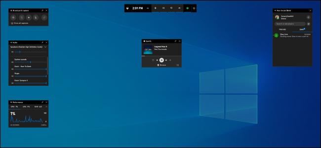 La nouvelle barre de jeu de Windows 10 version 1903