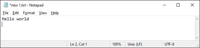 Bloc-notes sur Windows 10