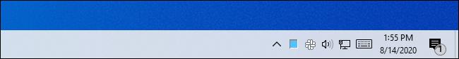 Utilisation élevée du processeur affichée dans l'icône du gestionnaire de tâches sur la barre des tâches de Windows 10.