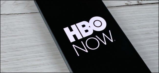 Le logo HBO NOW sur un smartphone.