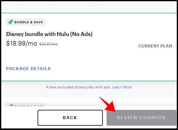 Modifications de l'examen Hulu