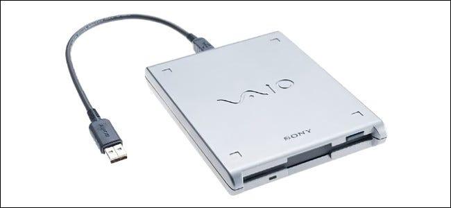 Un lecteur de disquette USB Sony VAIO.
