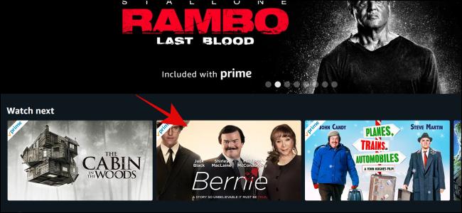 Sélectionnez l'émission ou le film que vous souhaitez regarder sur Amazon Prime Video.