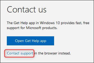 Le lien de support de contact
