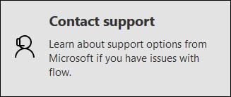 L'option Contacter l'assistance