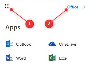 Le lanceur d'applications et l'option Office