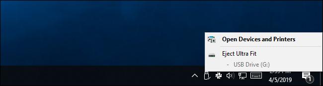 Éjecter un périphérique de stockage USB externe sous Windows 10