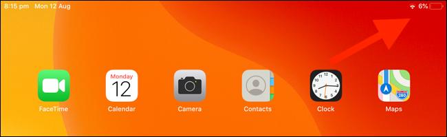 Faites glisser votre doigt depuis le coin supérieur droit sur l'iPad pour utiliser le Centre de contrôle