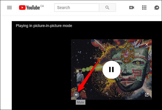 Passez le curseur de la souris sur la vidéo, puis cliquez sur l'icône du haut-parleur pour couper le son de la vidéo