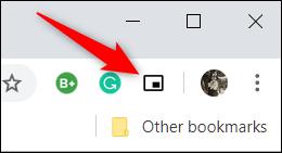 Chargez une vidéo, puis cliquez sur l'icône de la barre d'outils Picture-in-Picture