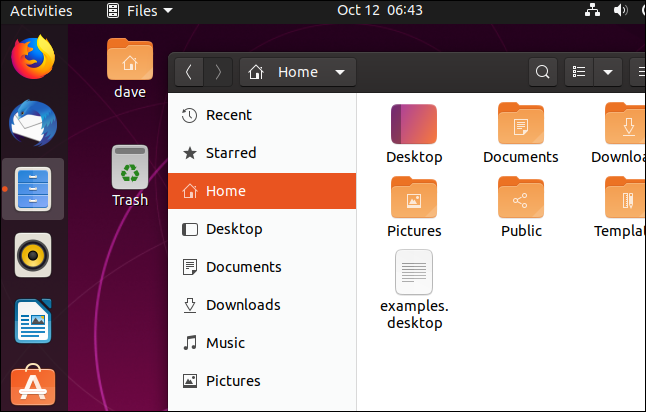 Jeu d'icônes Yaru mis à jour dans la fenêtre de fichier et la barre d'outils du dock
