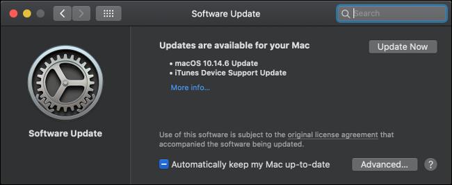 Mise à jour du logiciel macOS