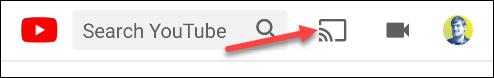 Appuyez sur l'icône Google Cast sur YouTube.
