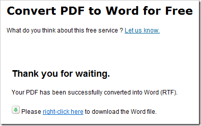 PDF en Word gratuitement