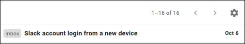Un e-mail dans Gmail affichant uniquement la ligne d'objet.