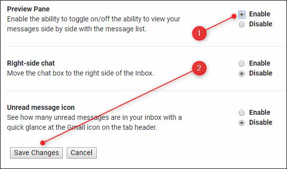 """Cliquez ou appuyez sur """"Permettre"""" dans le """"Volet d'aperçu"""" section, puis cliquez ou appuyez sur """"Sauvegarder les modifications."""""""