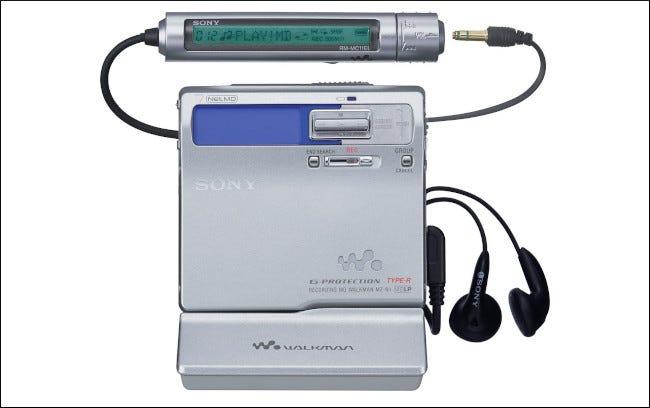 Un baladeur MiniDisc NetMD portable Sony MZN1.