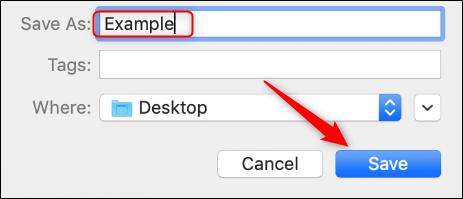"""Tapez un nom pour votre fichier, choisissez l'emplacement où vous souhaitez l'enregistrer, puis cliquez sur """"Sauvegarder."""""""