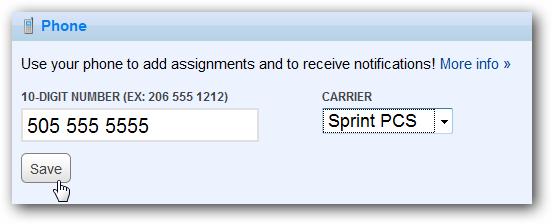 Ajouter un numéro de mobile