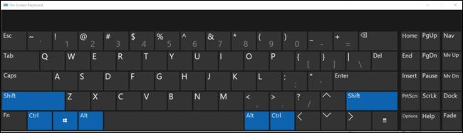 La touche Office appuie en fait sur les quatre touches de modification