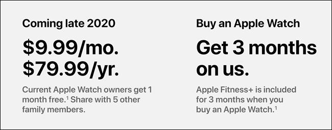 Tarifs Apple Fitness +