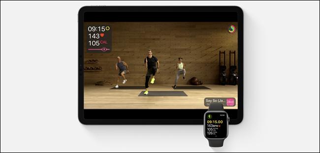 Fitness + course sur iPad et Apple Watch