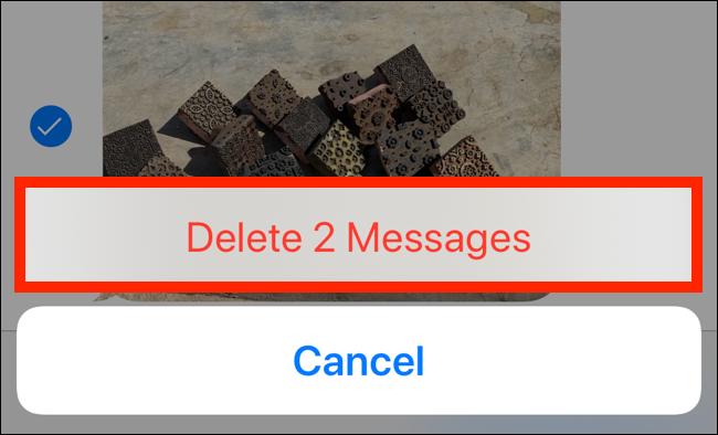"""Robinet """"Supprimer les messages."""""""