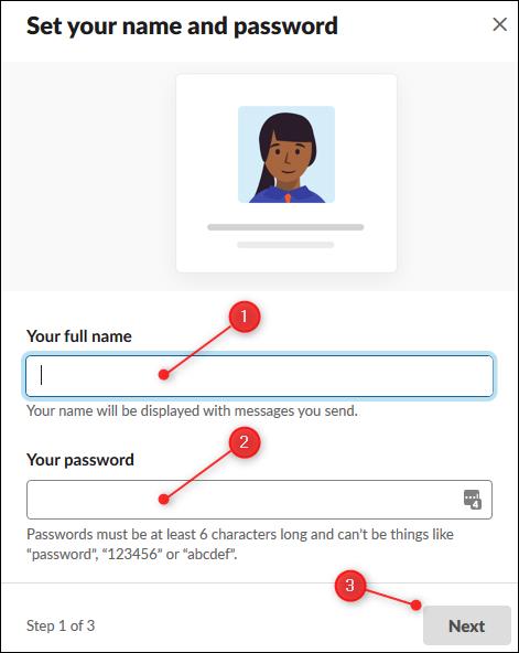 Les zones de texte pour saisir votre nom et votre mot de passe.