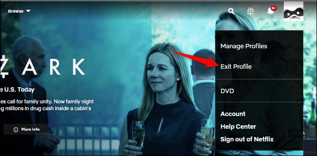 Se déconnecter d'un profil Netflix