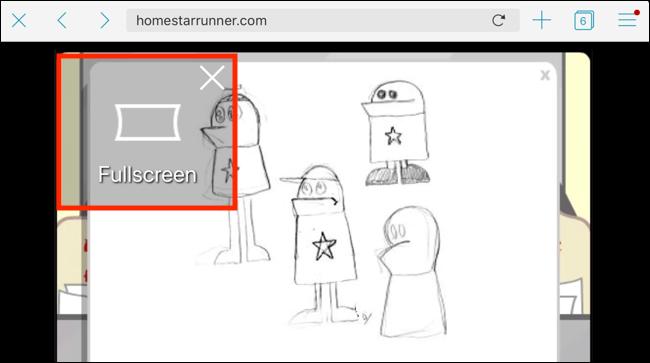 Appuyez sur le bouton Plein écran dans le lecteur pour passer en plein écran