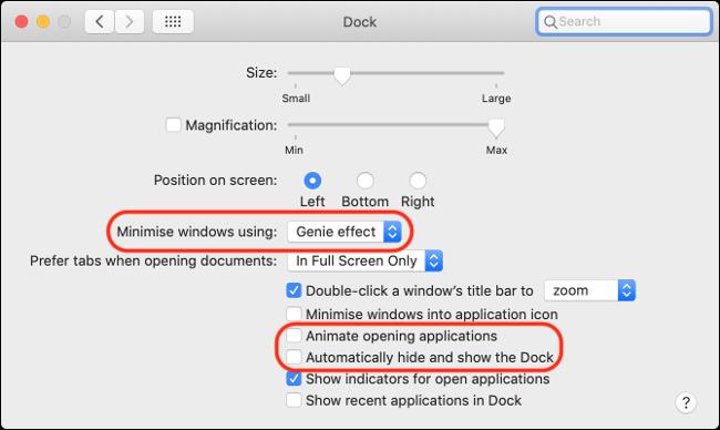 Désactivez les animations sur macOS pour améliorer les performances