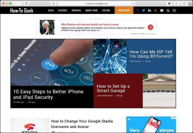Naviguez sur le Web avec un navigateur léger comme Safari