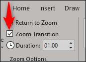 transition de zoom