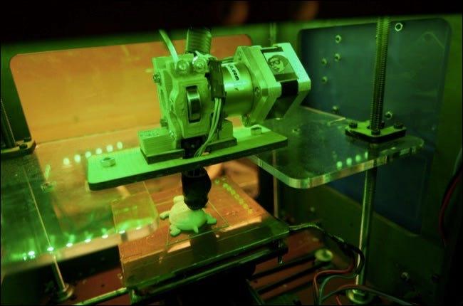Imprimante 3D créant une tortue en plastique